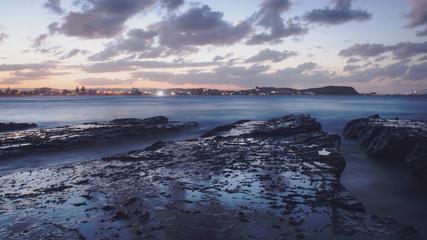 Sunset Sunrise Ocean Long Exposure Currumbin beach Wave Background Wide angle pano