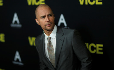 "Cast member Rockwell poses at the premiere for the movie ""Vice"" in Beverly Hills"