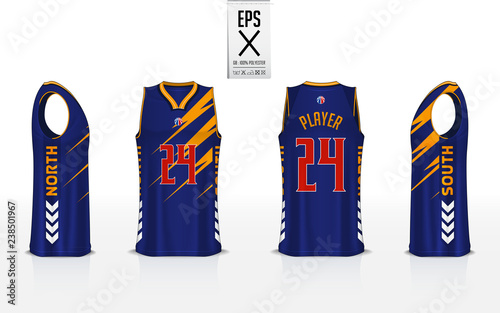 Basketball Uniform Template Design For Basketball Club Tank Top T