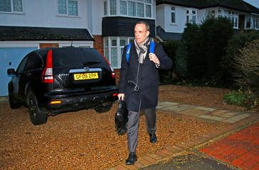 Dominic Raab, former Secretary of State for Exiting the European Union, leaves his home after it was announced that the Conservative Party will hold a vote of no confidence in the prime minister, London