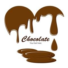 チョコレートのハートフレーム
