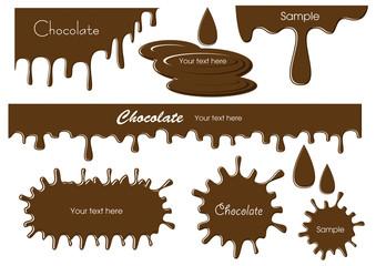 チョコレートの素材セット