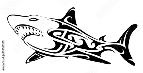 3e6063f36 Tribal art shark tattoo