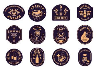 variety classic coffee badge design