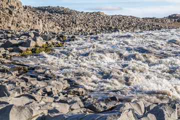 Dettifoss massive waterfall in the north of iceland