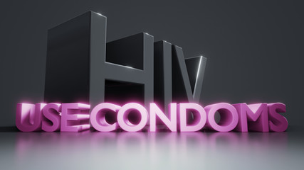 HIV use condoms AIDS protection information