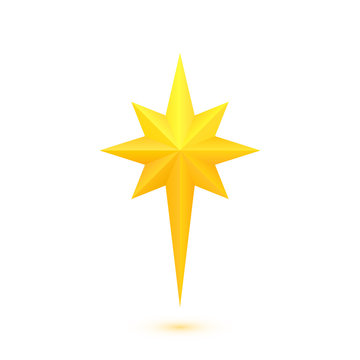 Bright golden christmas star