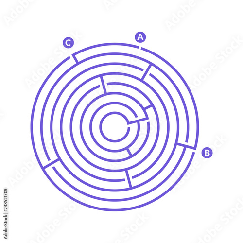 Simple round maze labyrinth game for kids  One of the