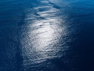 Wall Mural - Ocean blue surface aerial view