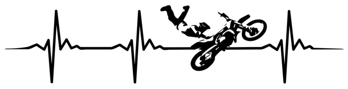 motocross heartbeat #isoliert #vektor - MX Herzschlag