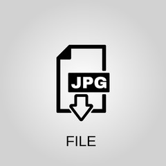 Jpg file icon. Jpg file concept symbol design. Stock - Vector illustration can be used for web.