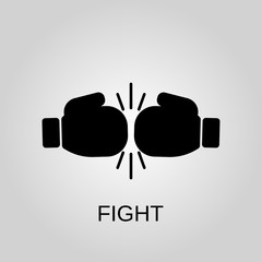 Fight icon. Fight concept symbol design. Stock - Vector illustration can be used for web.