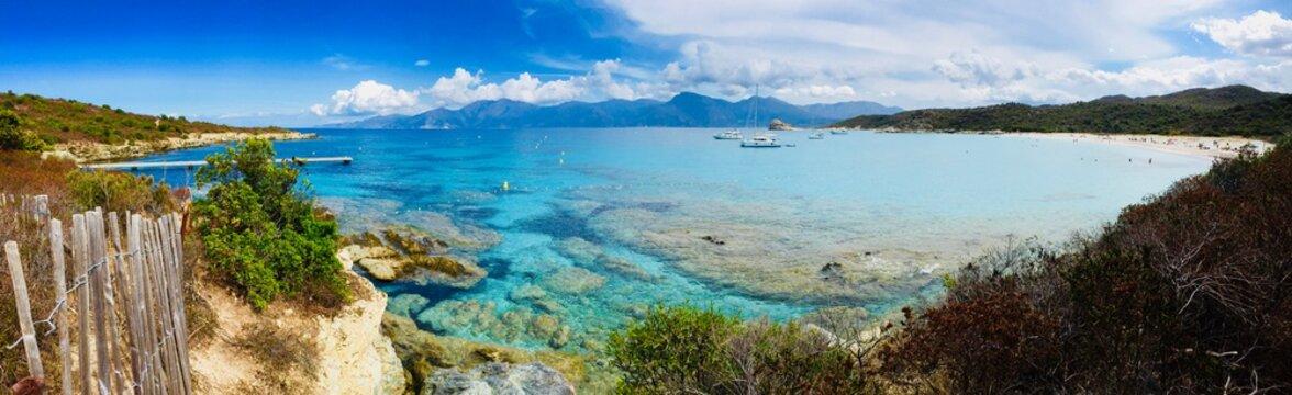 Corsica beach landscape