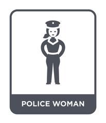 police woman icon vector