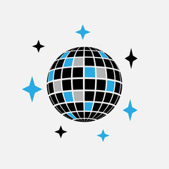 Disco ball icon. Disco sphere party concept symbol design. Stock - Vector illustration can be used for web.
