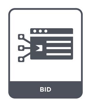 bid icon vector