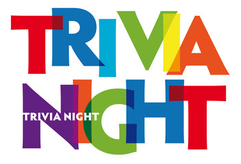 Trivia Night - vector of stylized colorful font