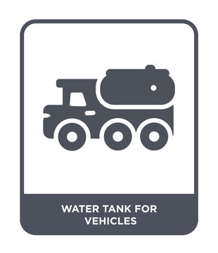water tank for vehicles icon vector