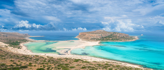Wall Mural - Amazing landscape with Balos Lagoon beach and Gramvousa island on Crete, Greece