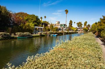 Venice Beach Canals neighbourhood near Los Angeles California
