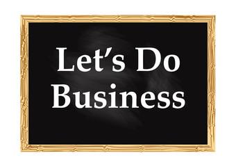 Let us do business blackboard record Vector illustration for design