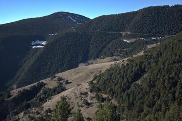 Paisaje con montañas en Canillo (Andorra)