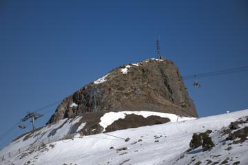 Remontes en la estación de esqui de Ordino-Arcalís en Andorra.