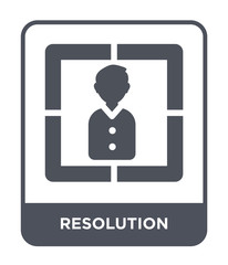 resolution icon vector