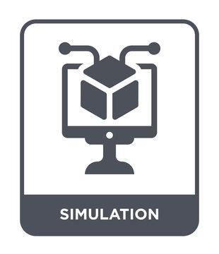 simulation icon vector