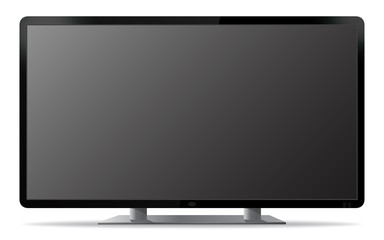 Blank PC Monitor Screen Vector Illustration