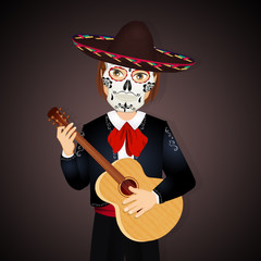 Mexican man in the dead day