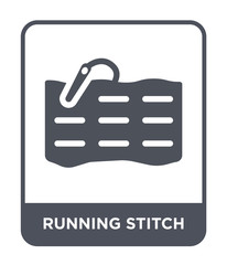 running stitch icon vector