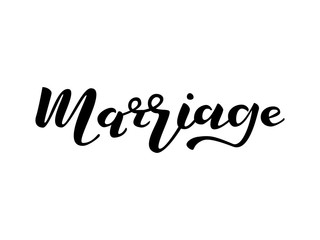 Marriage lettering. Vector illustration