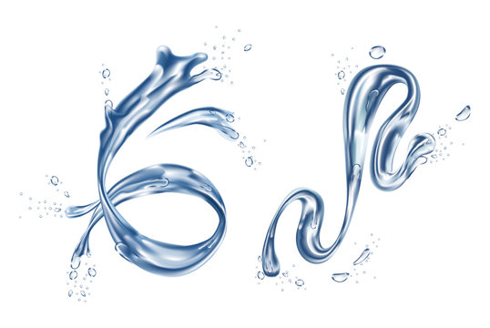 H2O splash or realistic stream water element