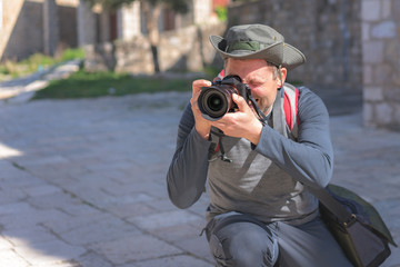 Portrait of a professional street and travel photographer