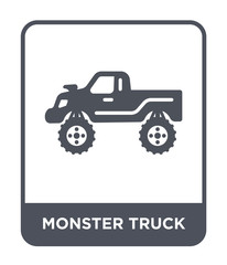 monster truck icon vector