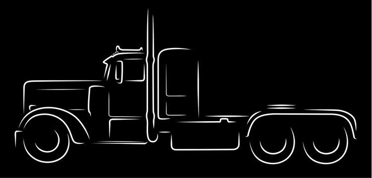 Semi truck silhouette