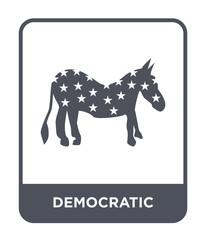 democratic icon vector