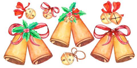 Set of Christmas bells