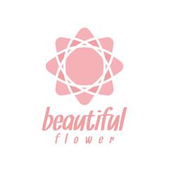 Pink flower logo design inspiration
