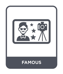 famous icon vector