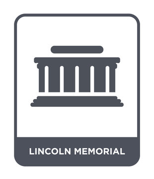 lincoln memorial icon vector
