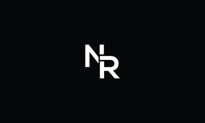 LETTER N AND R LOGO WITH NEGATIVE SPACE EFFECT FOR LOGO DESIGN OR ILLUSTRATION USE
