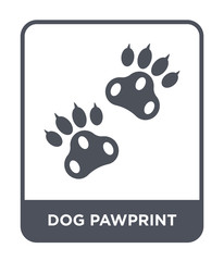 dog pawprint icon vector