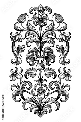 Victorian frame border Old School Flower Vintage Baroque Scroll Victorian Frame Border Floral Ornament Leaf Engraved Retro Pattern Lily Peony Decorative Design Tattoo Black And White Fotoliacom Flower Vintage Baroque Scroll Victorian Frame Border Floral Ornament