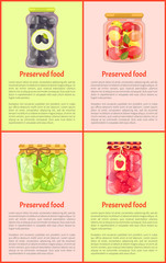 Preserved Food, Fruits and Vegetables, Posters