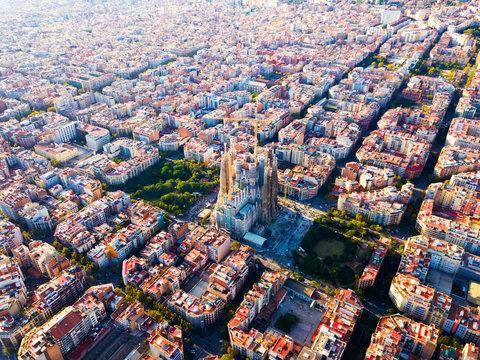 Eixample district, Sagrada Familia, Barcelona