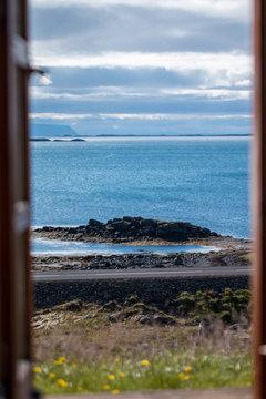 Iceland Coast through door