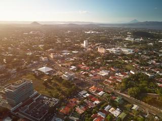 Sunset at Managua city
