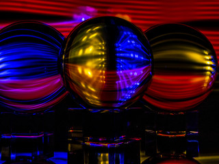 Light Gels, Lensballs, and LED Lights make for an Interesting Abstract Reflective Image